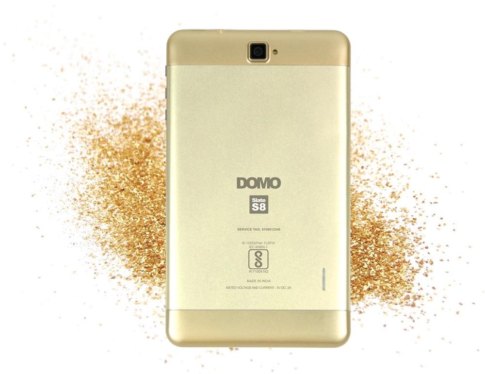 DOMO Slate S8 4G Calling Tablet PC with VOLTE, GPS, Bluetooth, 1GB RAM,  QuadCore CPU 1 3 GHz, Dual SIM